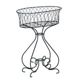 Wrought Iron Planter - 26&quot; x 16&quot; x 35&quot;