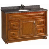 "Montclair 48"" x 21"" Single Door Vanity Cabinet  with Single Bowl Top"