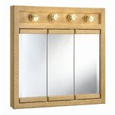 Richland 30&quot; x 30&quot; 4-Light Tri-View Wall Cabinet
