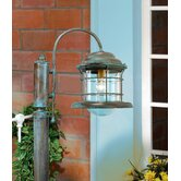 Caravela One Light Outdoor Two Arm Head Post Lamp