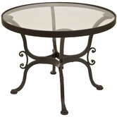 "Ashbury 24"" Round Glass Side Table"
