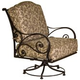 Ashbury Swivel Rocker Club Chair with Cushion