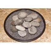 Casual Fireside Hi-Heat Ceramic Rock Kit with Lava Granules