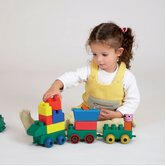 Mini Edu Block Toy Train