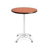"Cafe 41.5"" x 30"" Round Table with Chrome Base"