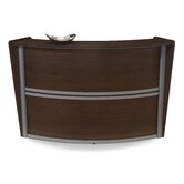 Single Unit Curved Stylish Reception Station