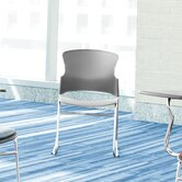 Multi Use Fabric Seat and Back Stacker Chair