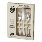 Stainless Steel Panda Babies 3 Piece Childs Set