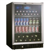 Silhouette 5.3 Cubic Ft. Beverage Center in Black with Stainless Steel Door Trim