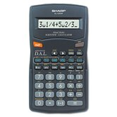 EL-500WBBK Fraction/Scientific Calculator, 10-Digit LCD