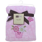 Just Born Fluffy Beautiful Garden Fleece Blanket