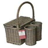 Country Living Hamper with 2 Bottle Holders