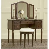 43&quot; Warm Cherry Vanity Set