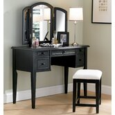43&quot; Antique Black Vanity Set