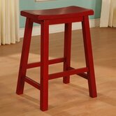 Color Story 24&quot; Crimson Red Counter Stool