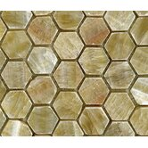 "Stone 12"" x 12"" Polished Hexagon Mosaic in Honey Onyx"