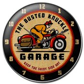 Busted Knuckle Garage Motorcycle Clock
