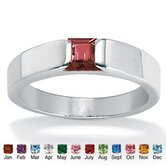 Princess - Cut Birthstone Stack Ring