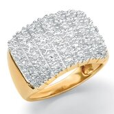 Diamond Pave Cluster Ring