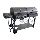 Double Play Combo Gas and Charcoal Grill