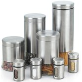 Stainless Steel Canister and Spice Jars (Set of 8)