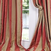 Rialto Faux Silk Taffeta Stripe Curtain Single Panel
