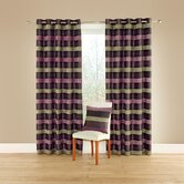 Casino Lined Curtains with Eyelet Heading in Aubergine