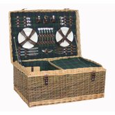 6 Person Tartan Partitioned Hamper Picnic Basket