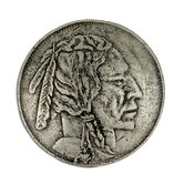 Curiosities Indian Head Nickel Cabinet Knob in Distressed Pewter Matte