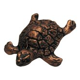 Curiosities Turtle Cabinet Knob in Distressed Antique Copper