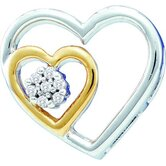 10k White Gold 0.03 Dwt Diamond Heart Pendant