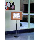 Single Pedestal Bulletin Board