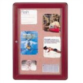 Ovation Radius Fabric Tackboard with Hinged Door
