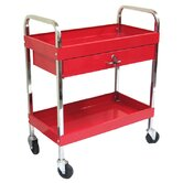 Rolling Metal Tool Cart with 1 Drawer