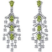 Captivating Seduction 4.00 Carats Gemstone Dangle Earrings in Sterling Silver