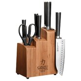 Chikara Series 8 Piece Bamboo Knife Block Set
