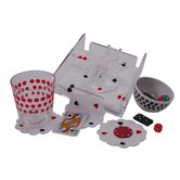48 Piece Napkins and Coasters Set in Playing Card Pattern