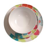 12 Piece Tropical Floral Brights Dining Set