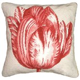 Tulip 100% Wool Needlepoint Pillow