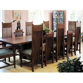 "Frank Llloyd Wright Dana-Thomas 84 - 124"" W x 48"" D Grand Extension 13 Piece Dining Set"