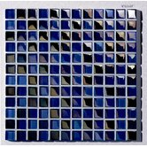 "Metallica  1"" x 1"" Glass Mosaic in Mix Metallica Blue"