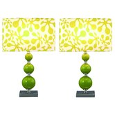 """Beta 20"""" H Table Lamp with Oval Shade (Set of 2)"""