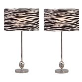 Zebra Table Lamp (Set of 2)
