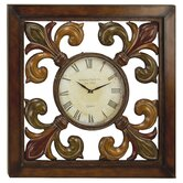 39&quot; Square Iron Fleur De Lis Wall Clock