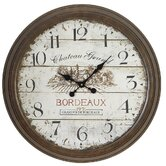 28&quot; Bordeaux Vintage Style Wall Clock