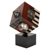 Designer Modern Cube Statue