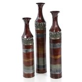 Tall Slender Floor Vase (Set of 3)