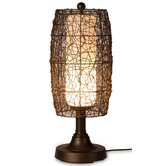 Bristol Table Lamp Walnut Shade in Bronze