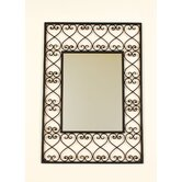 Rectangular Wrought Iron Wall Mirror