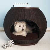 The Igloo Deluxe Wicker End Table Dog Bed